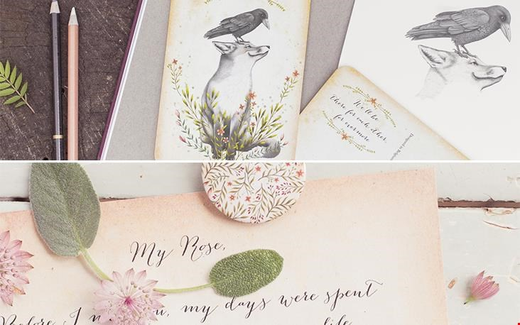 Snow & Rose stationery